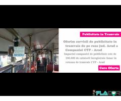 Vand manere spatiu publicitar in tramvaie