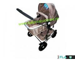Cărucior nou născut 3 in 1 Baby Care YK 18-19  Maro