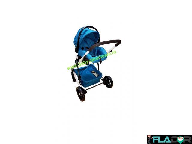 Cărucior nou născut 3 in 1 Baby Care YK 18-19 Turquoise - 4/4