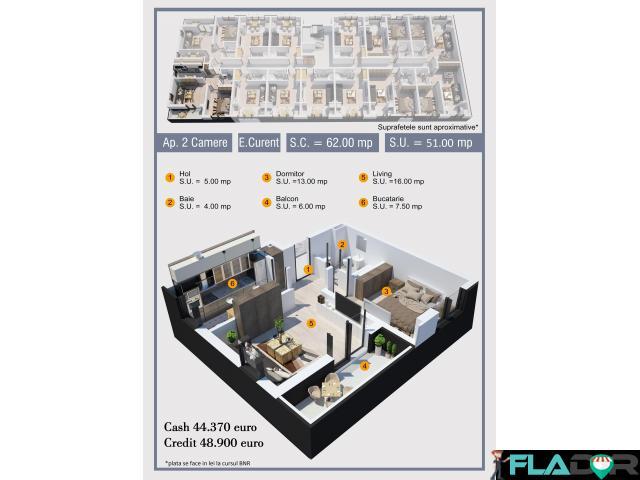 Apartament 2 camere decomandat Militari Pollux Residence - 4/6
