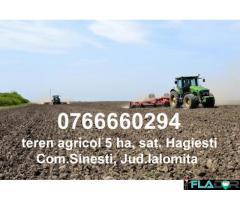 Teren Agricol Hagiesti 5HA