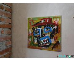 Pictura in culori acrilice  GORILA