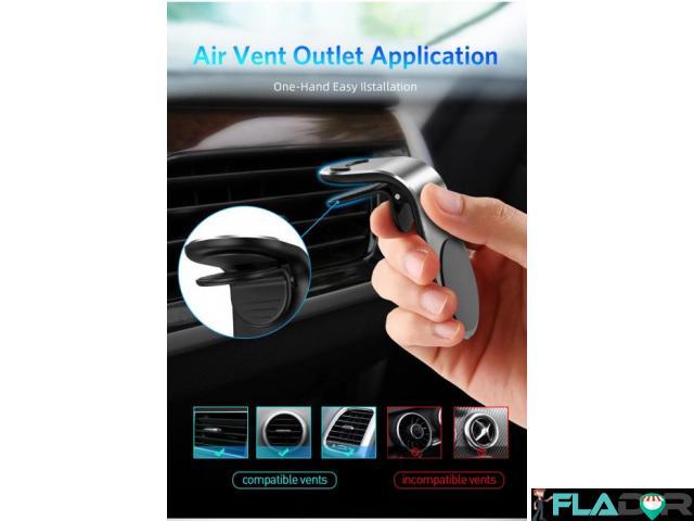 Suport Auto Magnetic Neodim pentru Telefon, Tableta sau GPS - 4/5