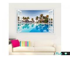 Autocolant Sticker Decorativ - Fereastra 3D - Imagine 2/4