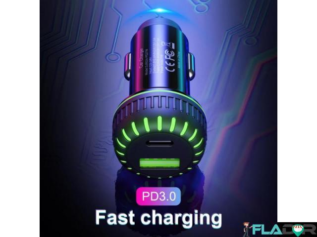 Incarcator auto usb fast charge 3.1a - 3/6