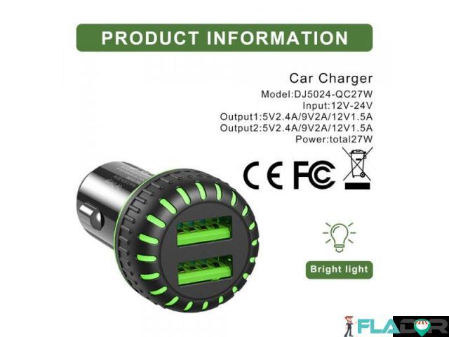 Incarcator auto usb fast charge 3.1a - 4/6