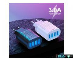 Incarcator 4x USB Incarcare Rapida 3.1A Qualcomm 3.0