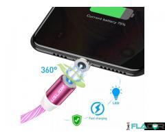 Cablu usb fast charge cu mufa magnetica 360°