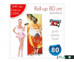 Roll-up 80 x 200 cm - 125 lei (print+sistem+husă)