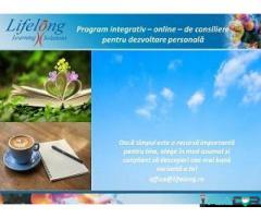 Program individualizat de consiliere online pentru dezvoltare personală