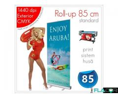 Roll-up 85 x 200 cm - 135 lei (print+sistem+husa)