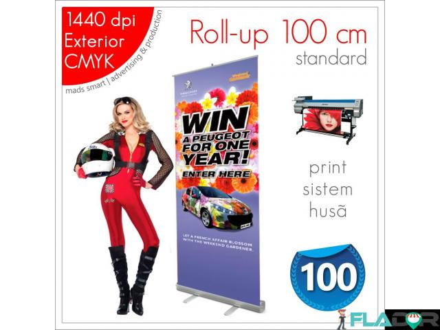 Roll-up 100 x 200 cm - 160 lei (print+sistem+husă) - 1/3