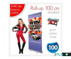 Roll-up 100 x 200 cm - 160 lei (print+sistem+husă)