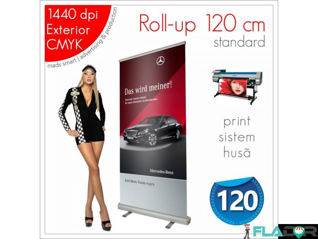Roll-up 120 x 200 cm - 220 lei (print+sistem+husa) - 1/3
