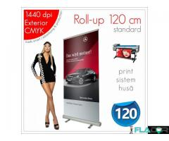 Roll-up 120 x 200 cm - 200 lei (print+sistem+husa)