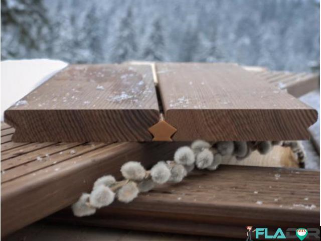Cu Decking WPC si lemn termotratat - 2/4