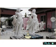 Statuete mari, din beton, pentru curte si gradina.
