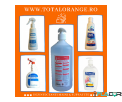 Gel antibacterian maini Total Orange
