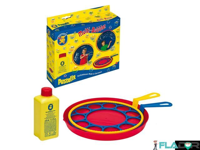 Jucarie baloane de sapun Set 2 inele 18cm si 250ml solutie baloane  Pustefix - 1/2