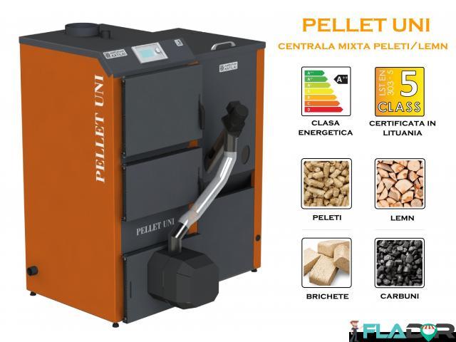 Centrala mixtta peleti/lemn Pellet Uni - 1/4