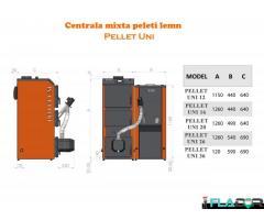 Centrala mixtta peleti/lemn Pellet Uni - Imagine 4/4
