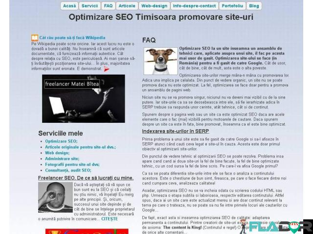 Pagini de internet, web design și SEO - 1/3