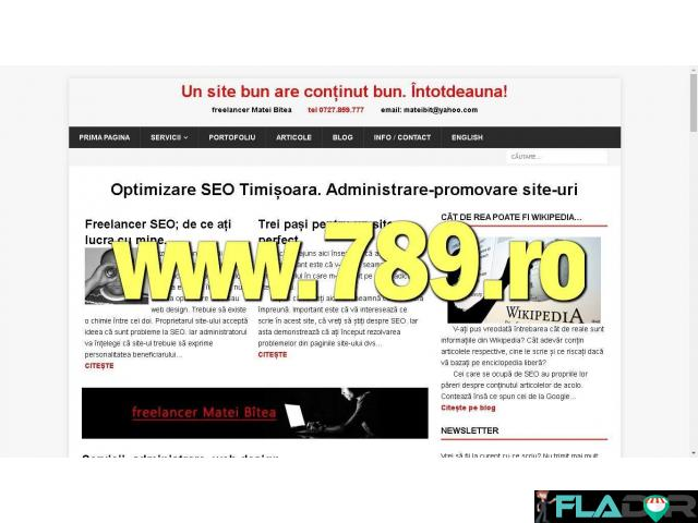 Pagini de internet, web design și SEO - 2/3