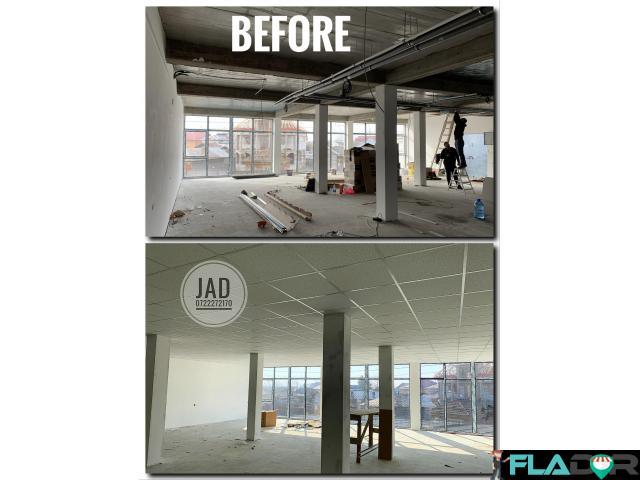 Montaj tavan casetat - plafon fals suspendat - totul la gata manopera/materiale - 1/2