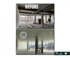 Montaj tavan casetat - plafon fals suspendat - totul la gata manopera/materiale