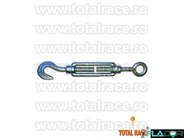 Intinzatoare cablu cu un ochi de prindere si un carlig Total Race - 2/5