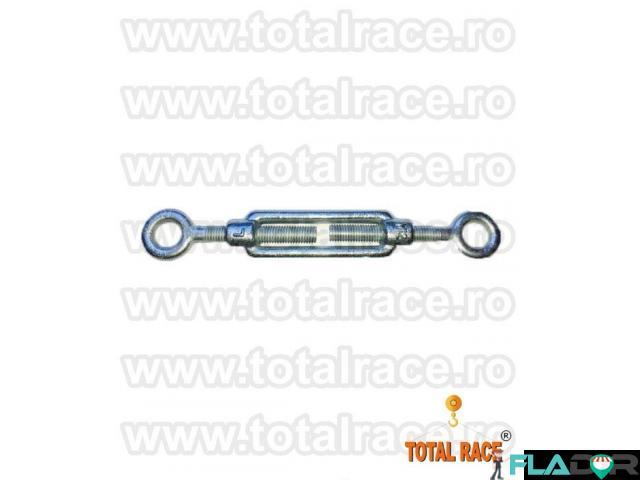 Intinzatoare cablu cu doua ochiuri de prindere Total Race - 3/5