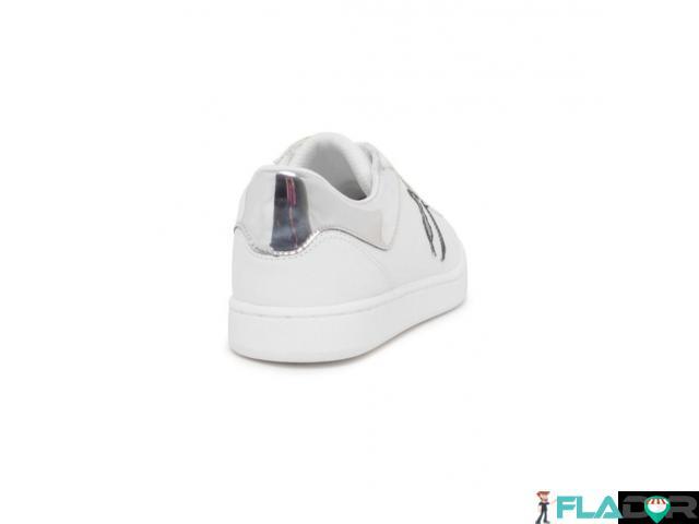 Sneakers dama Trussardi, noi, originali, culoare alba cu logo negru. - 3/3