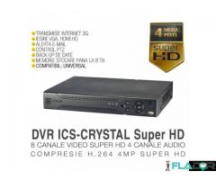 DVR ICS-Crystal 8 Canale Video, Rezolutie Super HD, 4 Canal Audio