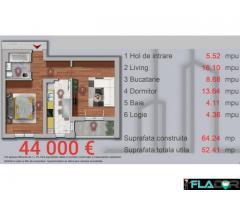 Apartament 2 camere , 53 mpu , zona Militari langa Padure