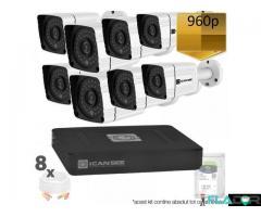 Kit Complet Exterior Cu 8 Camere Metalice Rezolutie HD - 1.3 MegaPixeli