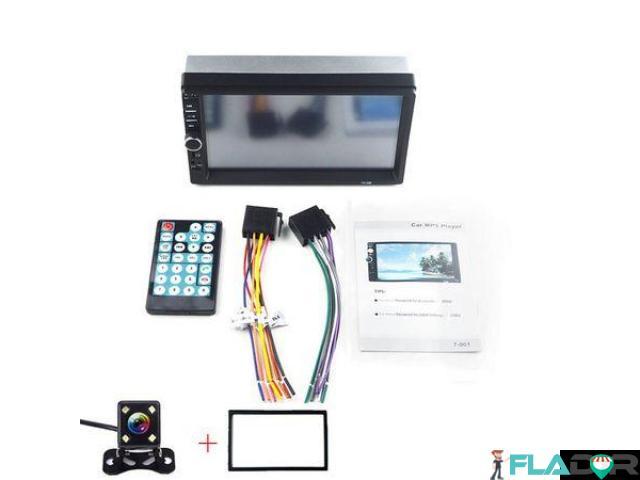 Player auto 2din mp5 cu ecran touchscreen 7 inch +CAMERA +RAMA 250 lei PRODUS NOU!!!!Livrare prin c - 1/6