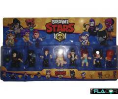 Set 8 figurine Brawl Stars - Mortis, Crow, Colt, Jessie, Bull, Nita, Penny, Tarra