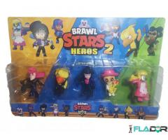 Set 5 figurine Brawl Stars Heroes 2 - Mortis, FireCrow, Bibi, Poco, Barley Bakesale