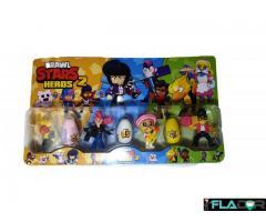 Set de 4 figurine si 3 oua surpriza Brawl Stars Heroes 2