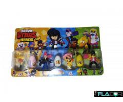 Set 4 figurine si 3 oua surpriza - Crow, Mortis, Poco, Brock