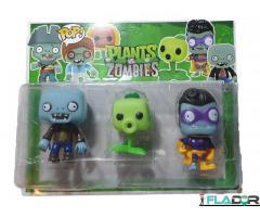 Set 3 figurine Plants vs. Zombies si o Floare