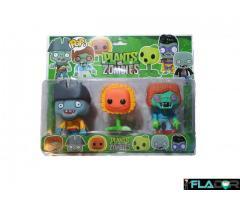 Set 3 figurine Plants vs. Zombies - 2 Zombies si un Soare