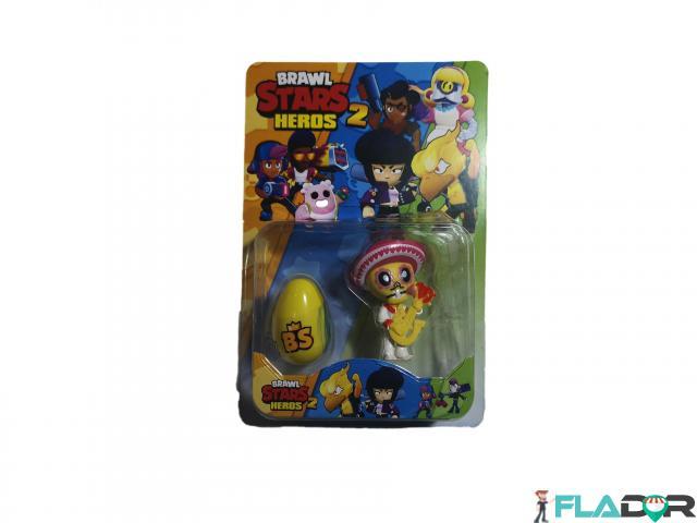 Set 1 figurina si un ou surpriza Brawl Stars Heroes 2 - Poco si ou surpriza galben - 1/2