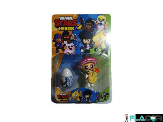 Set 1 figurina si un ou surpriza Brawl Stars Heroes 2 - Poco si ou surpriza alb - 1/2