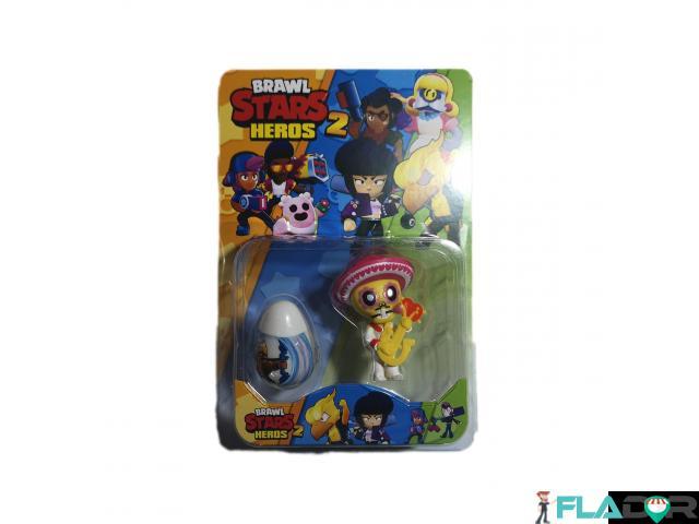 Set 1 figurina si un ou surpriza Brawl Stars Heroes 2 - Poco si ou surpriza alb - 2/2