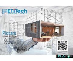 Printare Plotare planuri de construcții și arhitectură (CAD, GIS)