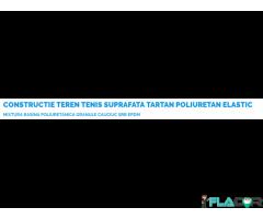 CONSTRUCTIE TEREN TENIS SUPRAFATA TARTAN POLIURETAN ELASTIC