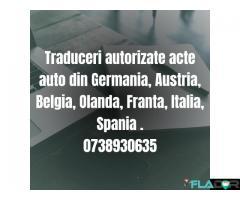 Traduceri autorizate acte auto